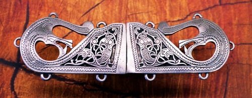 Medieval Handcrafted Pewter Norse Renaissance Celtic Viking Cloak Clasp