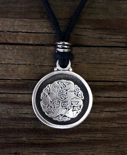Celtic knot work horse pewter pendant celtic jewelry medieval celtic knot work horse pendant aloadofball Images
