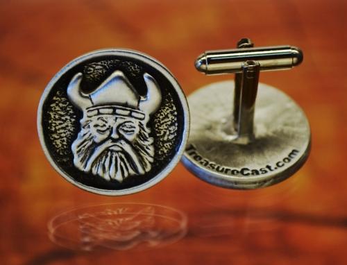 Viking Warrior Cufflinks Crafted in Fine Pewter