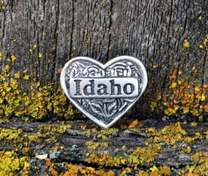 Idaho Heart Pin