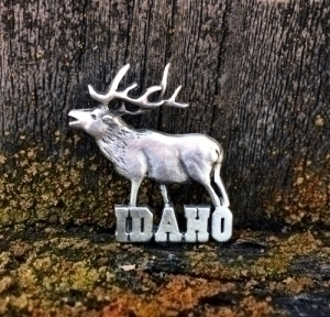 Idaho Elk Pin