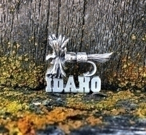 Idaho Royal Wulff Fly Pin