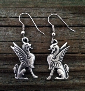 Gryphon / Griffin / Griffon Earrings