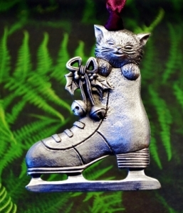 Kitten in an Ice Skate Ornanment