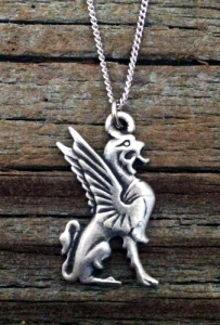Griffin Pewter Necklace