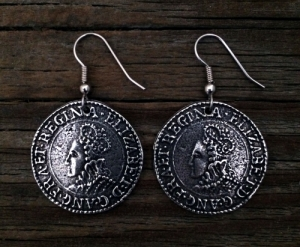 Elizabethan Shilling Coin Earrings