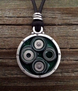 Steampunk Watch Gear Necklace