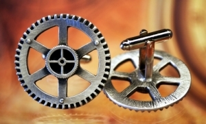 Steampunk Clock Gear Cufflinks