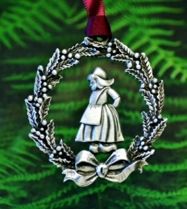 Dutch Girl Christmas Wreath Christmas Ornament