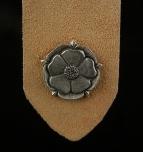Tudor Rose Leather Bookmark Fine Pewter and Leather