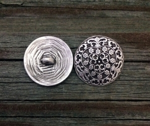 Pirate Silversmith Button