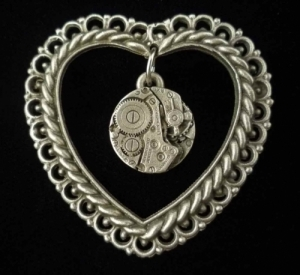 Victoria's Steampunk Heart Brooch