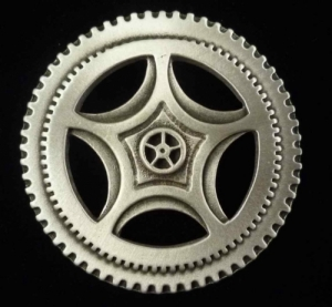 Large Steampunk Clock Gear Brooch