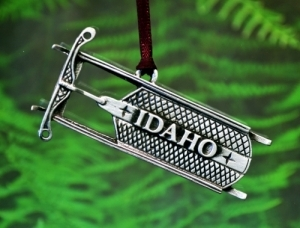 Idaho Sled Christmas Ornament
