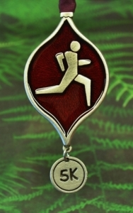 Runner's 5K Christmas Tree Ornament