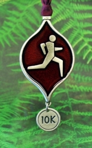 Runner's 10K Christmas Tree Ornament