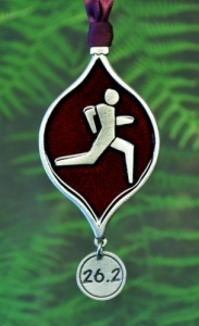 Runner's 26.2 Christmas Tree Ornament