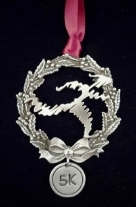 Shu's 5K Runner Christmas Tree Ornament
