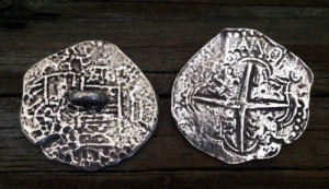 Pirate Pieces of Eight Button