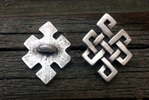 Diamond Shaped Celtic Knot Shank Button 7/8 Inch (22 mm)