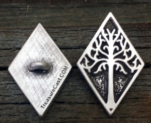 White Tree of Gondor Shank Button 3/4 Inch (19 mm) & 1 Inch (25 mm)