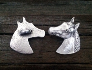 Horse Head Button