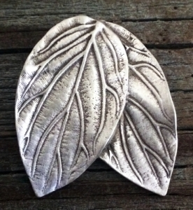 Elf or Elven Double Leaf Pin