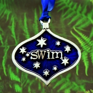 Swimmer SWIM Christmas Ornament