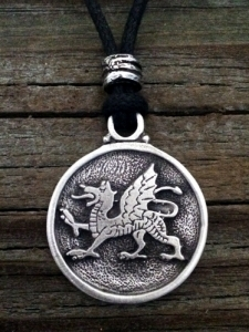 Dragon Passant / Welsh Dragon Pendant
