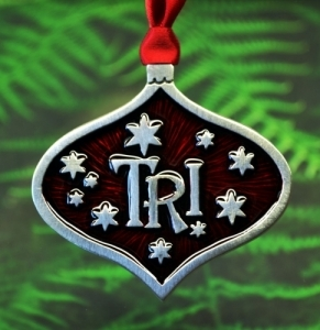 Triathlon TRI Christmas Ornament