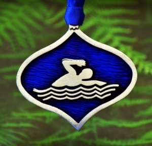 Swimmer Christmas Ornament