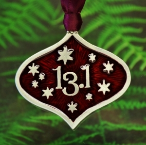 13.1 Half Marathon Runner Christmas Ornament