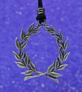 Laurel Wreath Pewter Pendant