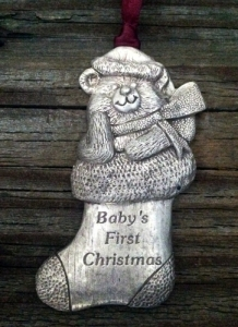Baby's First Christmas Teddy Bear Christmas Ornament