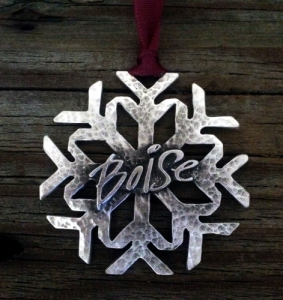 Boise Idaho Snowflake Christmas Ornament