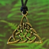 Triangular Celtic Knot Pewter Pendant