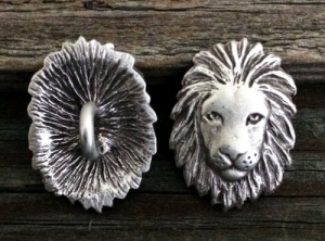 African Lion Button 1 Inch (25 mm)
