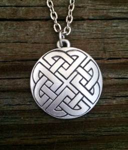 Round Celtic Knot Pewter Necklace