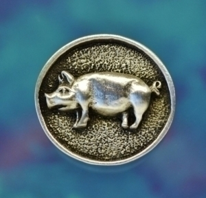 Pig Pewter Shank Button 7/8 Inch (22 mm)