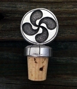 Basque Lauburu Wine Bottle Stopper