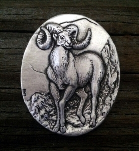 Bighorn Sheep Brooch
