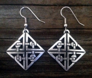 Diamond Celtic Knot Earrings