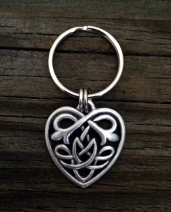 Celtic Knot Heart Keychain