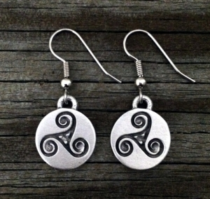 Celtic Triskele Earrings