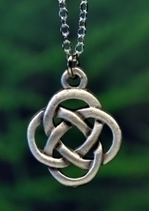 Celtic Eternity Love Knot Necklace