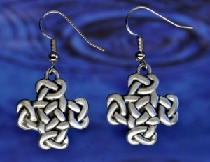 Celtic Knot Cross Earrings