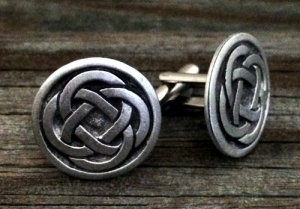 Celtic Quad Knot Cufflinks Fine Pewter