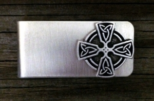 Ringed Celtic Cross Money Clip